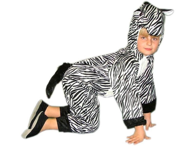 Plüss zebra jelmez - 116-os méret