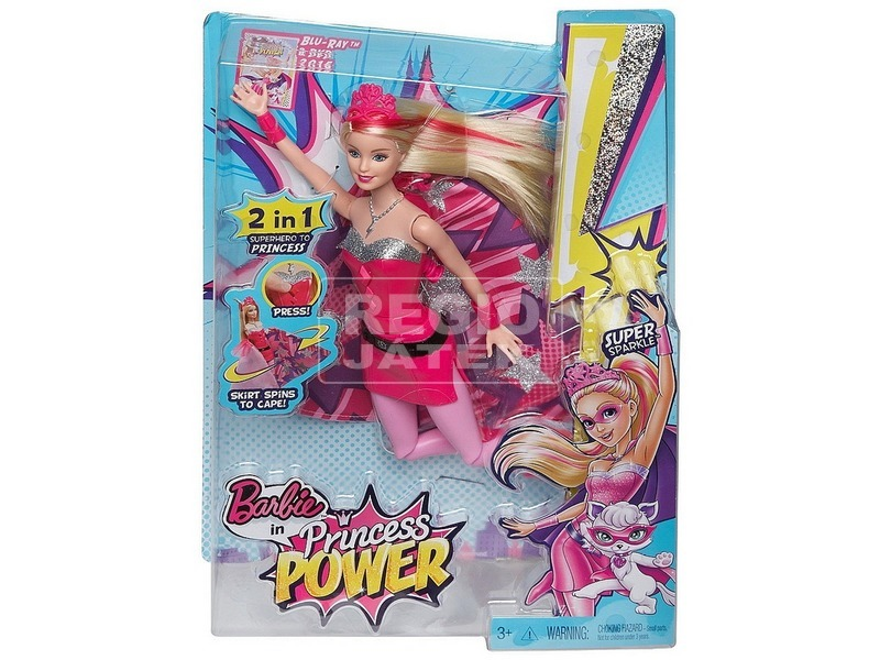 Barbie: Szuperhős hercegnő - Kara hercegnő baba