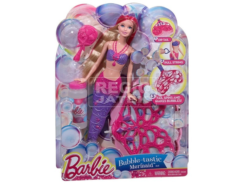Barbie: Buborékfújó csodasellő Barbie baba