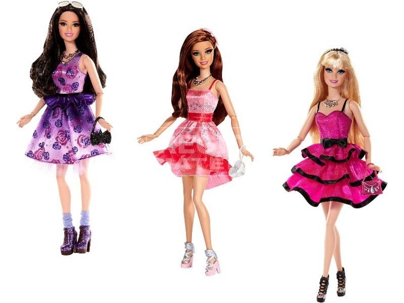 Barbie: baba parti ruhában - 29 cm, többféle