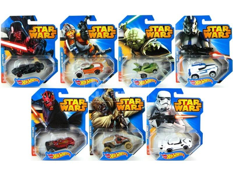 kép nagyítása Hot Wheels Star Wars karakter kisautó - többféle