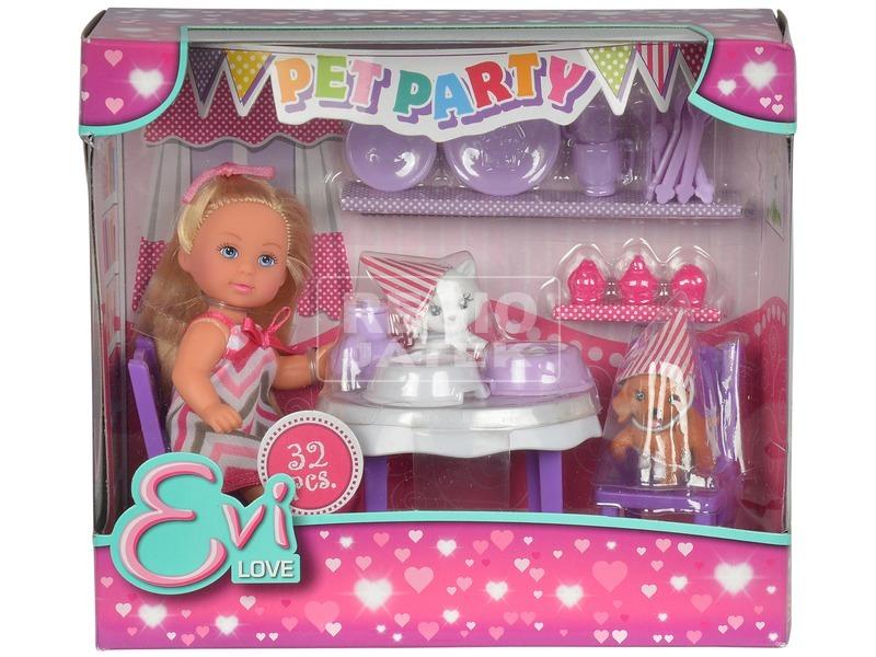 Évi Love baba kisállat party készlet - 12 cm