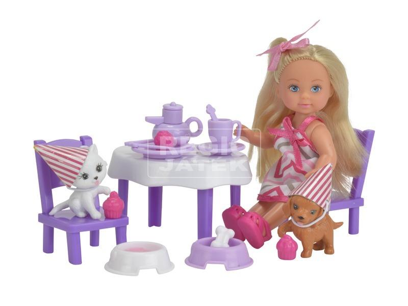 kép nagyítása Évi Love baba kisállat party készlet - 12 cm