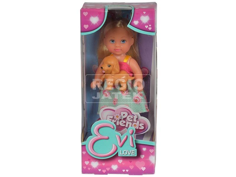 Évi Love baba kisállattal - 12 cm, többféle