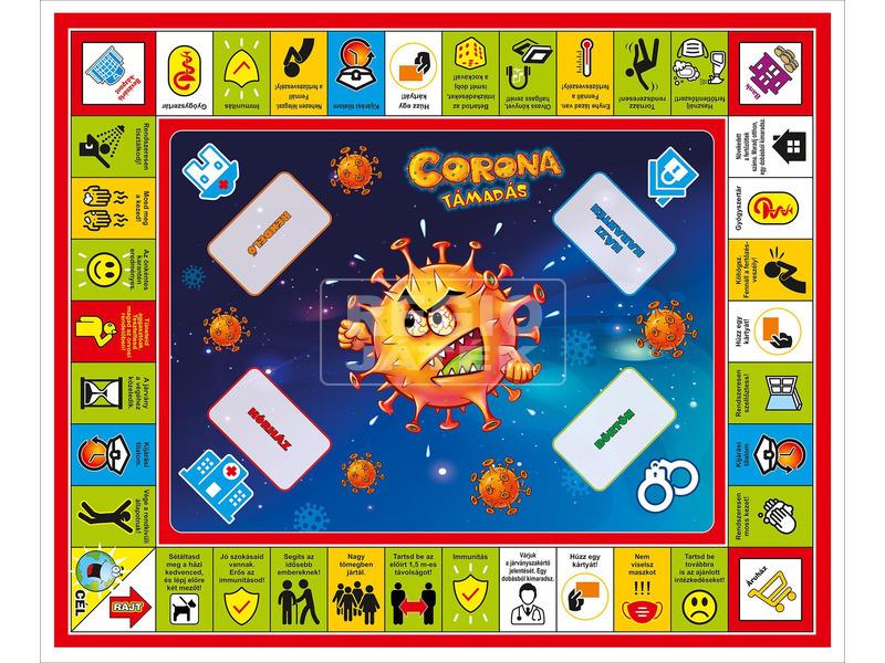 kép nagyítása Corona támadás társasjáték