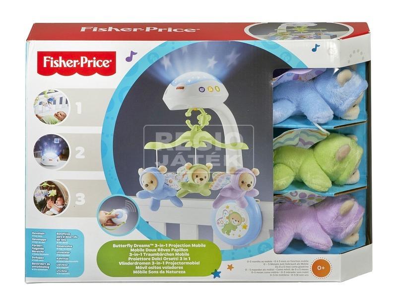 Fisher-Price 3 az 1-ben altatódalos kiságyforgó