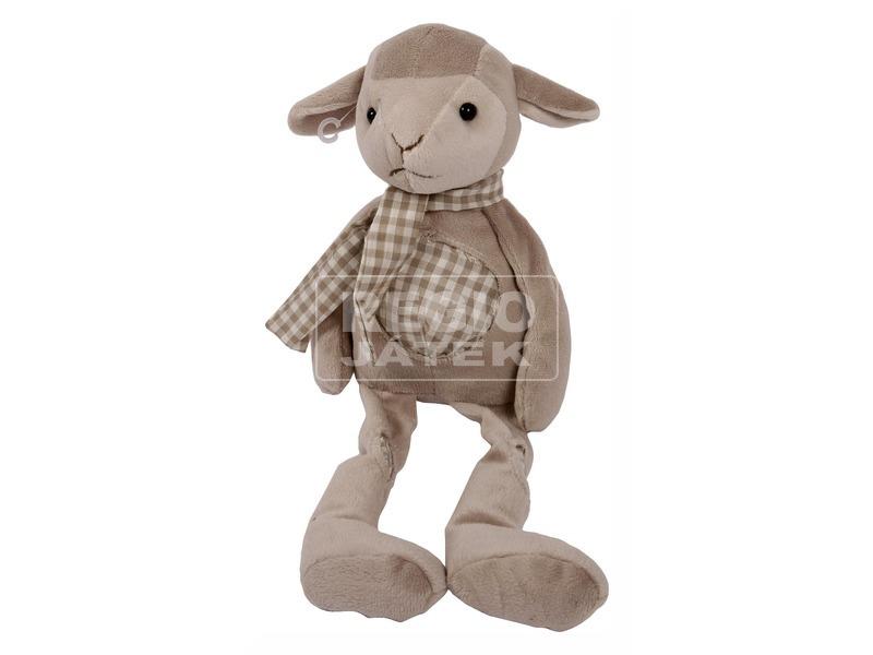 Bárány plüssfigura sállal - 24 cm