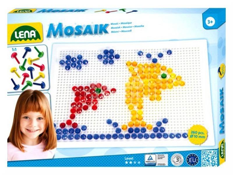 Mozaik 260 darabos képkirakó - 10 mm, kristály