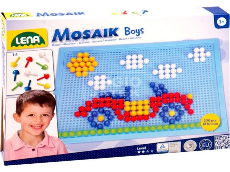 Mozaik 200 darabos képkirakó fiúknak - 10 mm