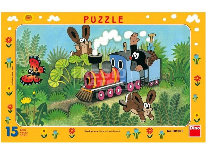 Kisvakond és a mozdony 15 darabos puzzle