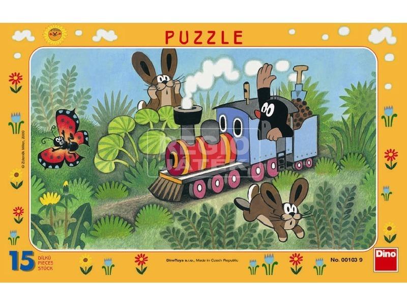 kép nagyítása Kisvakond és a mozdony 15 darabos puzzle