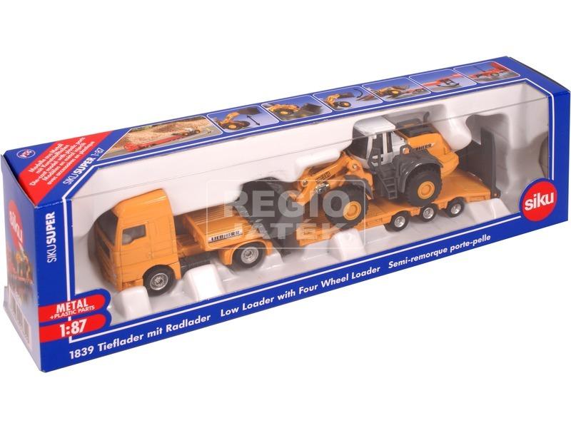 Siku: MAN kamion Liebherr markolóval 1:87