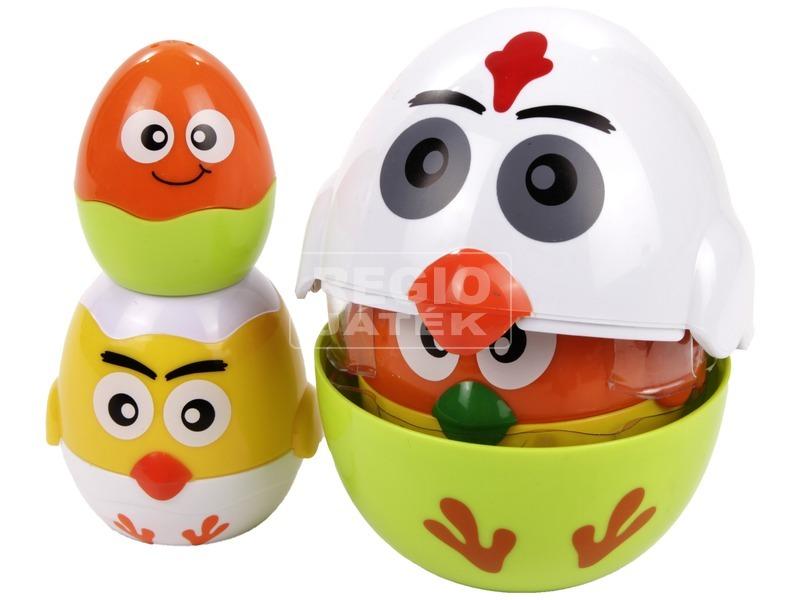 Egymásba rakható tojások bébijáték