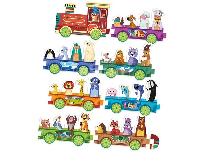 kép nagyítása Kicsik és nagyok vonatos logikai játék