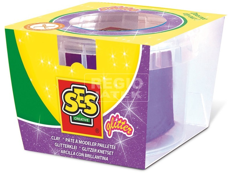 SES csillogó gyurma - lila, 90 g