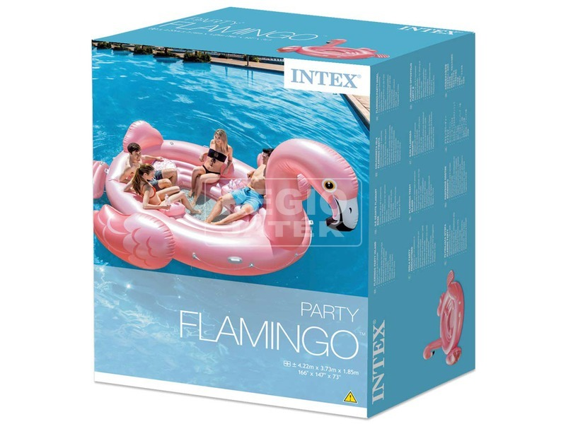 Intex 57267 Flamingó party sziget 422x373x185 cm