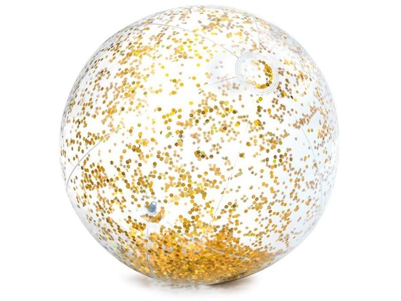 Átlátszó csillámos strandlabda - 71 cm, többféle
