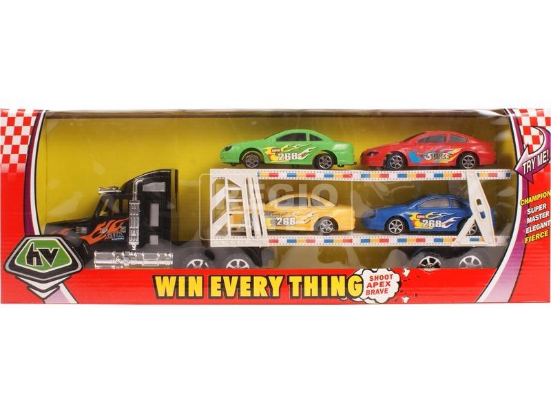 Lendkerekes autószállító kamion - 48 cm