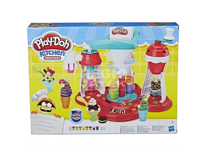 Play-Doh csavart fagyigép gyurmakészlet