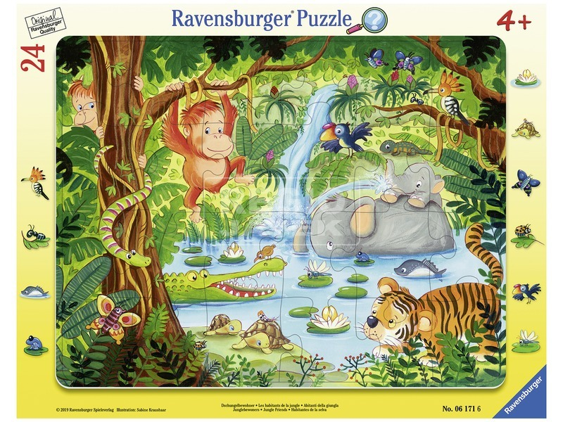 A dzsungelben 24 darabos puzzle