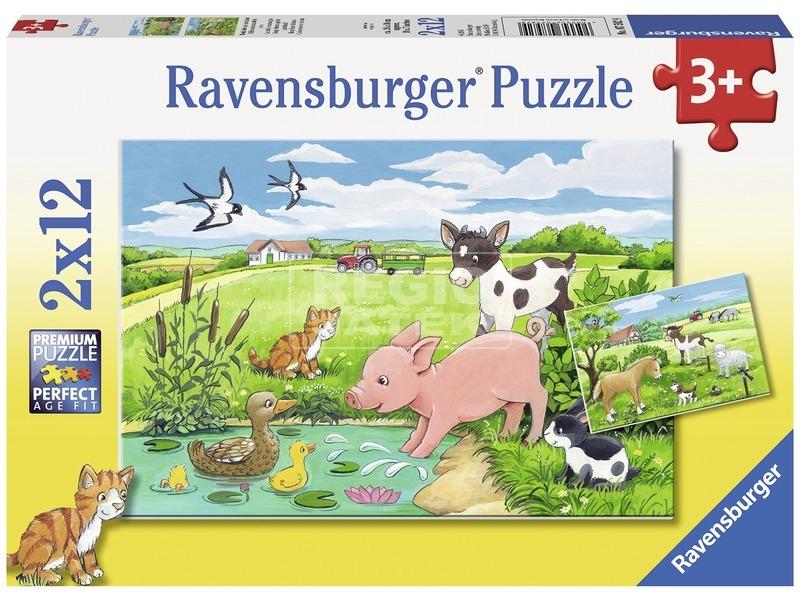 Háziállat kölykök 2 x 12 darabos puzzle