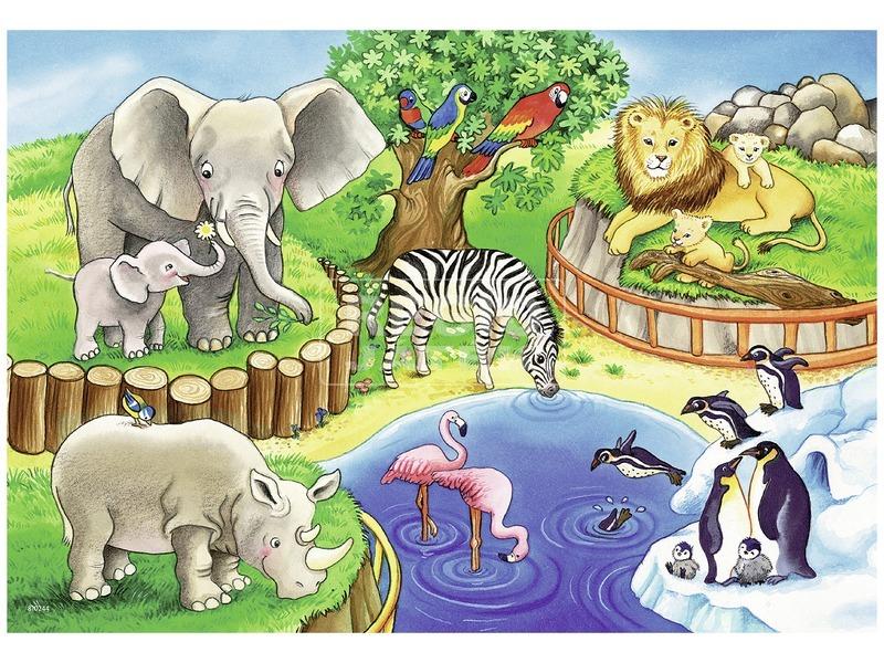 kép nagyítása Állatkerti állatok 2 x 12 darabos puzzle