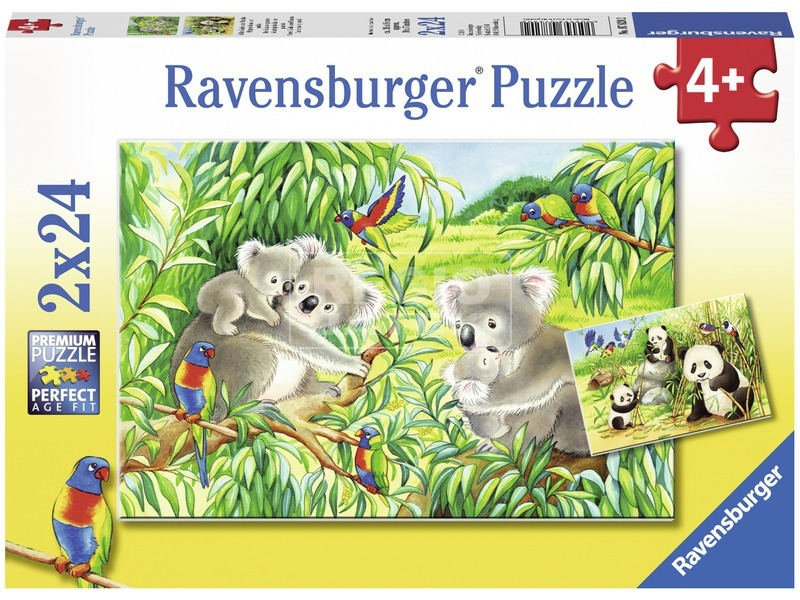 Koalák és pandák 2 x 24 darabos puzzle
