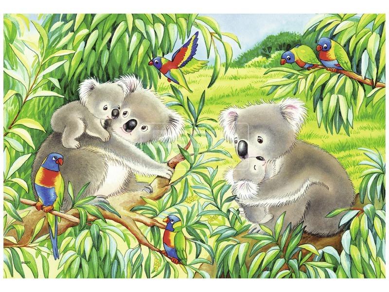 kép nagyítása Koalák és pandák 2 x 24 darabos puzzle
