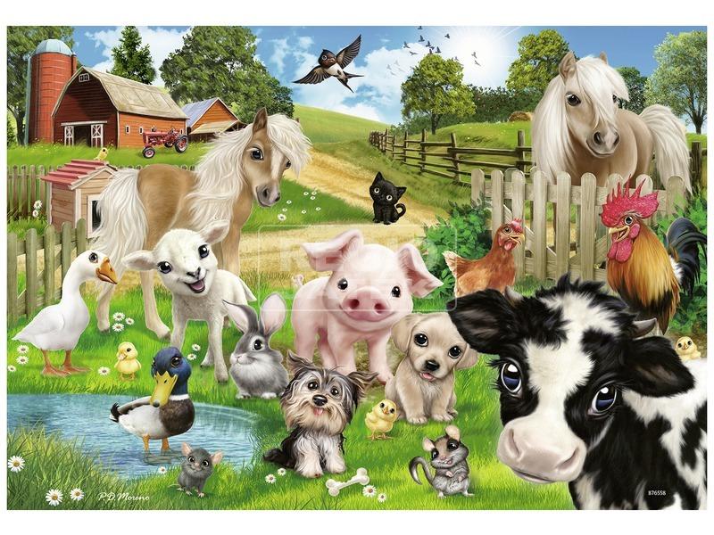 kép nagyítása Állati klub 2 x 24 darabos puzzle