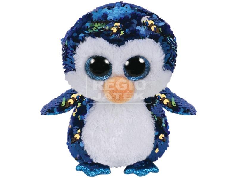 Payton pingvin flitteres plüssfigura - 15 cm