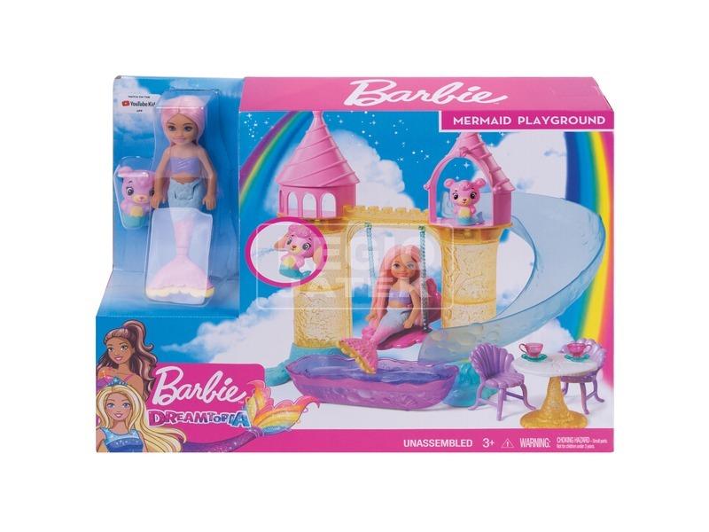 Barbie Dreamtopia Chelsea kastélya babával