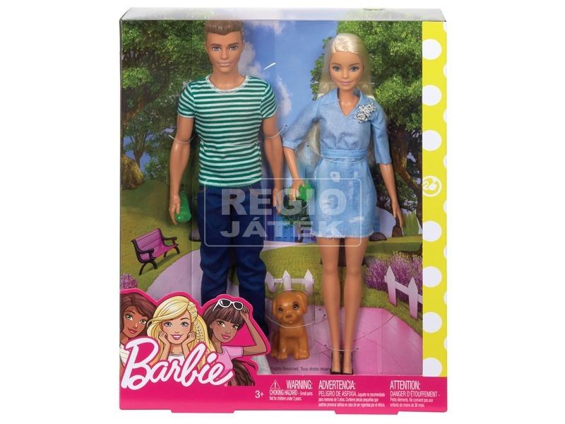 Barbie és Ken baba kutyával - 29 cm