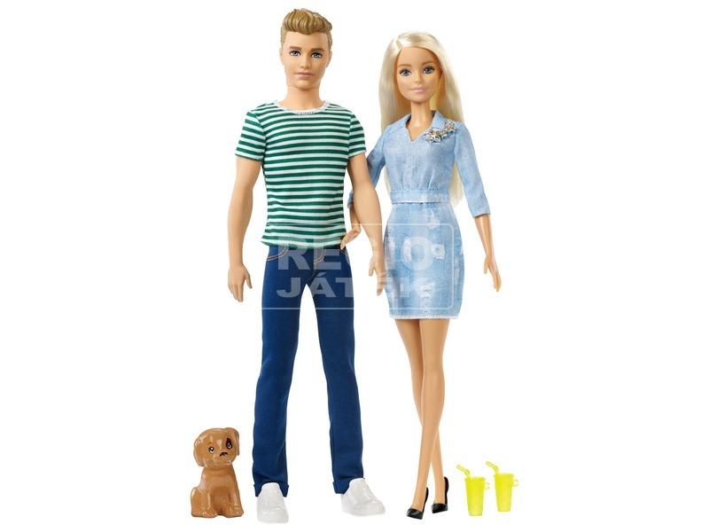 kép nagyítása Barbie és Ken baba kutyával - 29 cm