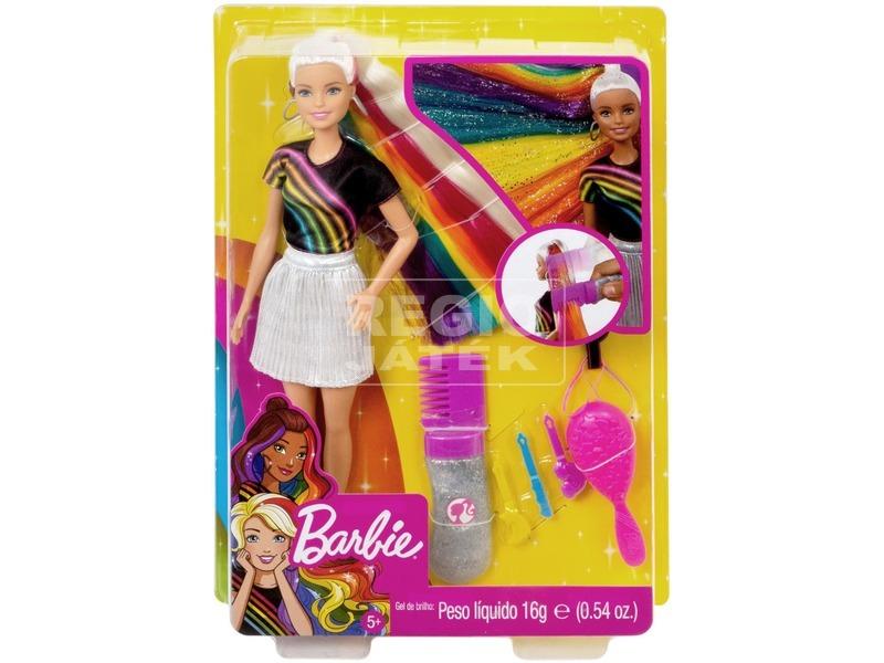 Barbie szivárványhaj baba - 29 cm, többféle