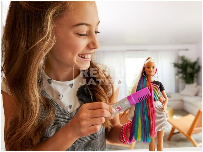 kép nagyítása Barbie szivárványhaj baba