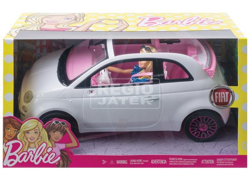 Barbie baba Fiat 500 autóval - 29 cm