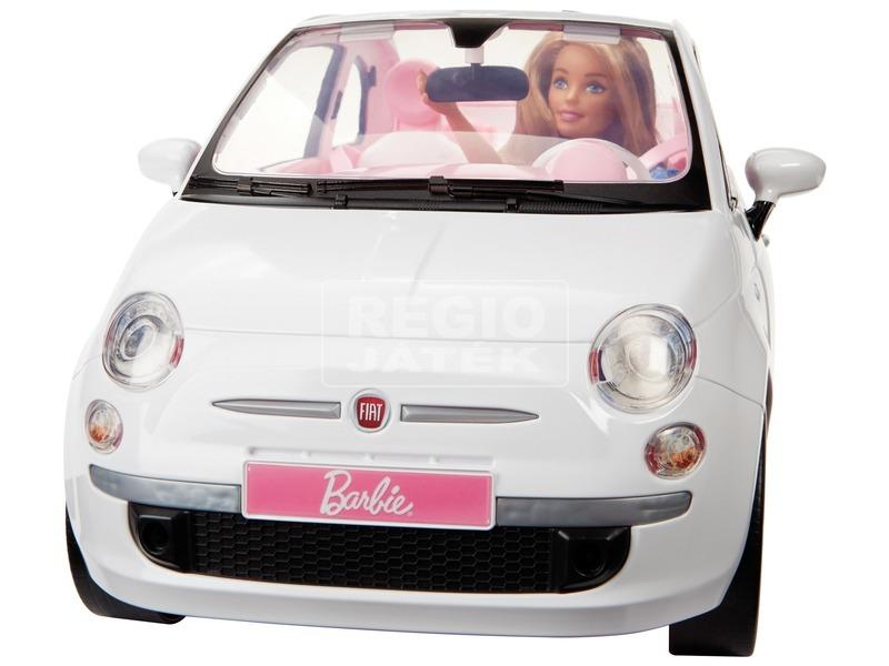 kép nagyítása Barbie baba Fiat 500 autóval - 29 cm