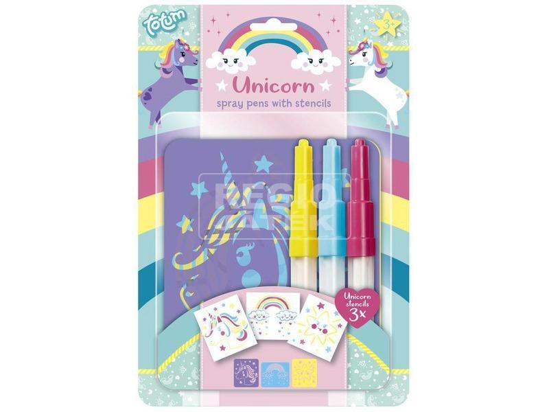 Unikornis festékszóró toll készlet