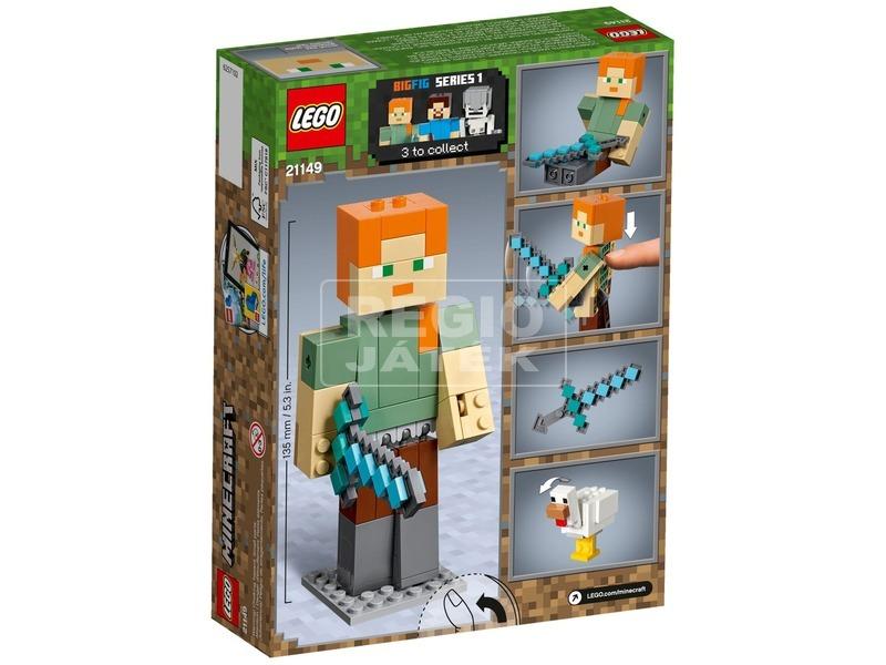 kép nagyítása LEGO® Minecraft BigFig Alex csirkével 21149