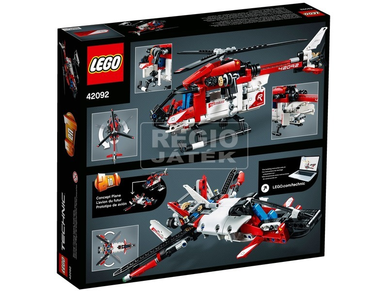 kép nagyítása LEGO® Technic Mentőhelikopter 42092