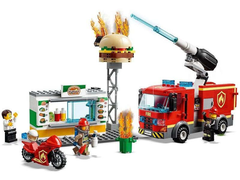 kép nagyítása LEGO® City Tűzoltás a hamburgeresnél 60214