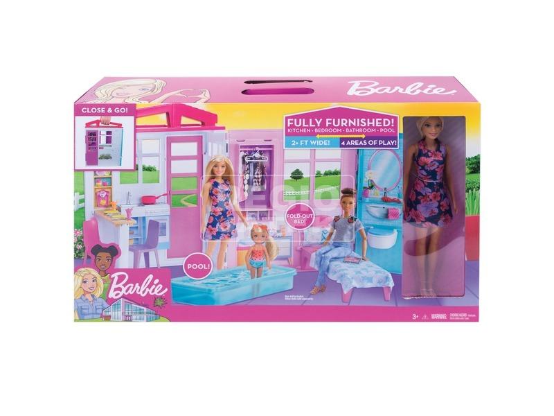 Barbie tengerparti ház babával készlet