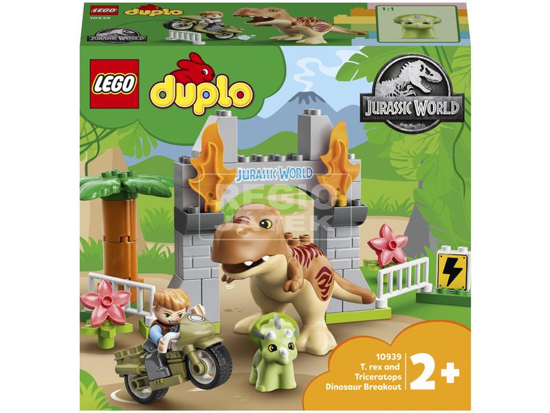 LEGO DUPLO Jurassic World 10939 T. rex és Triceratops dinoszaurusz szöké