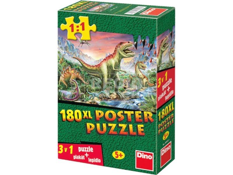 Dínók 180 darabos XL poszter puzzle