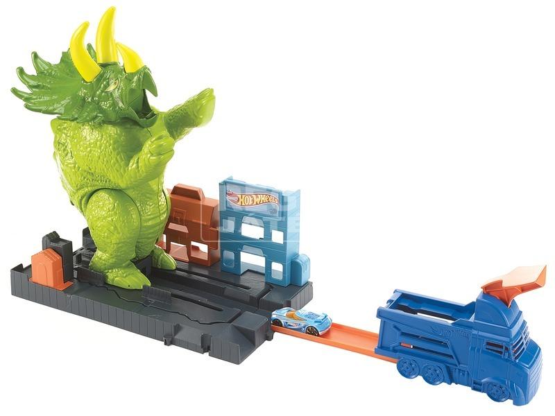 kép nagyítása Hot Wheels triceratops zúzó pályakészlet