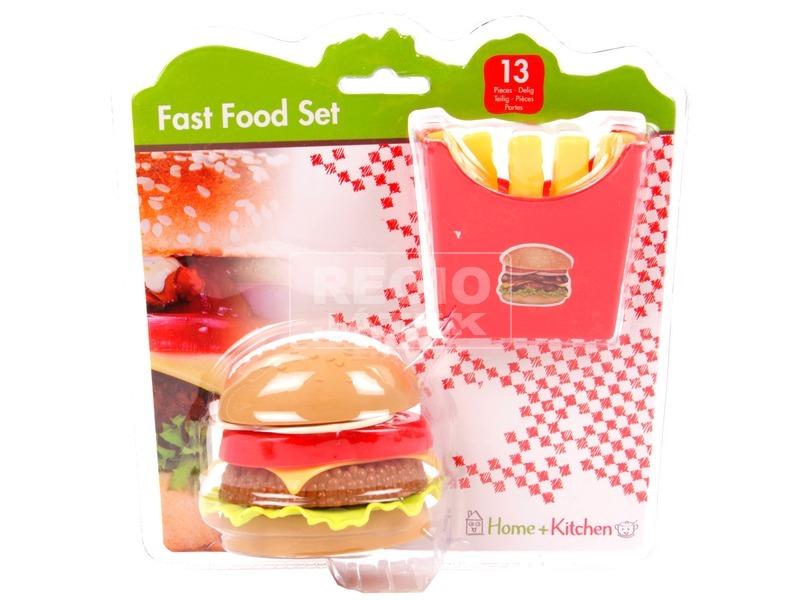 Hamburger menü játékkészlet