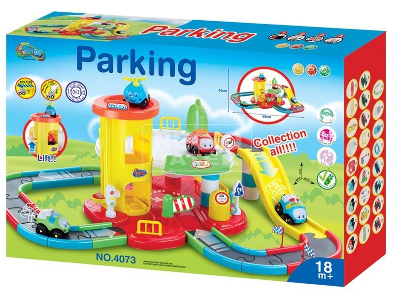 Parkolóház autópályával készlet - 34 cm