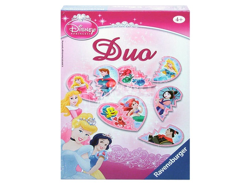 Disney hercegnők Duo párkereső társasjáték
