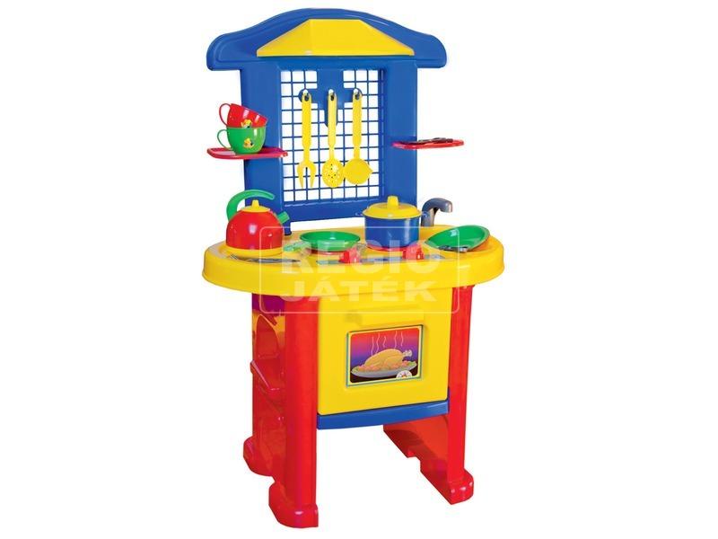 Játékkonyha - piros-kék