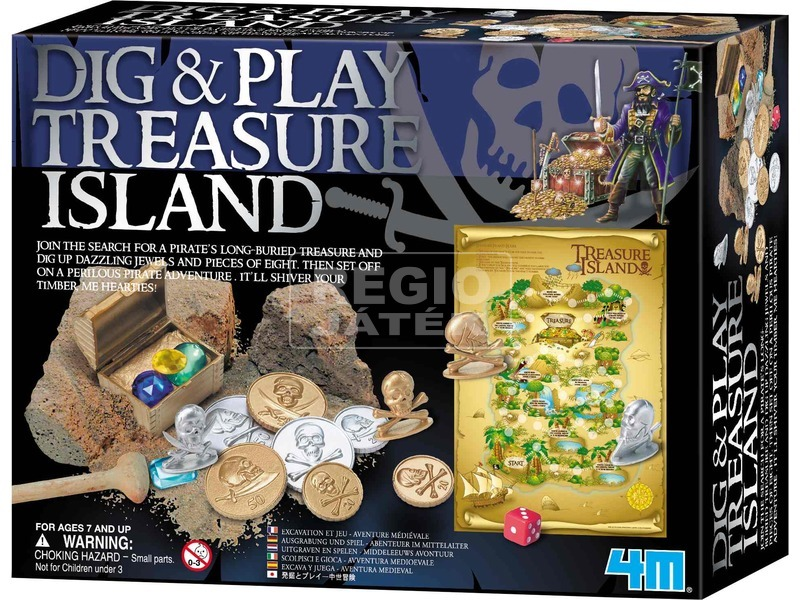 4M kincses sziget régész készlet